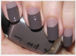 3. half moon manicures