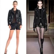 4. leather shorts