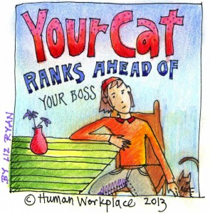your cat ranks ahead of your boss (2)