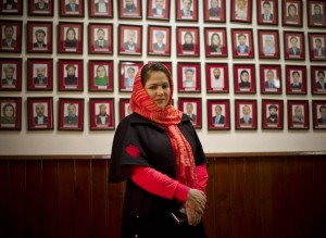 Portraits of Afghanistan female lawmakers