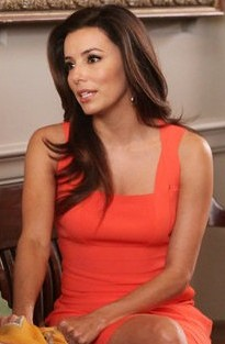Eva Longoria Orange Dress