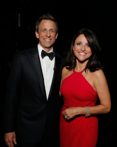 """Seth Meyers, Julia-Louis Dreyfus"""