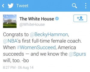 White House Becky Tweet