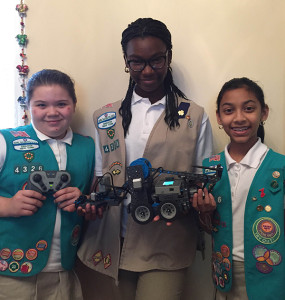 Girl Scout NYC Girls with Robot cropped