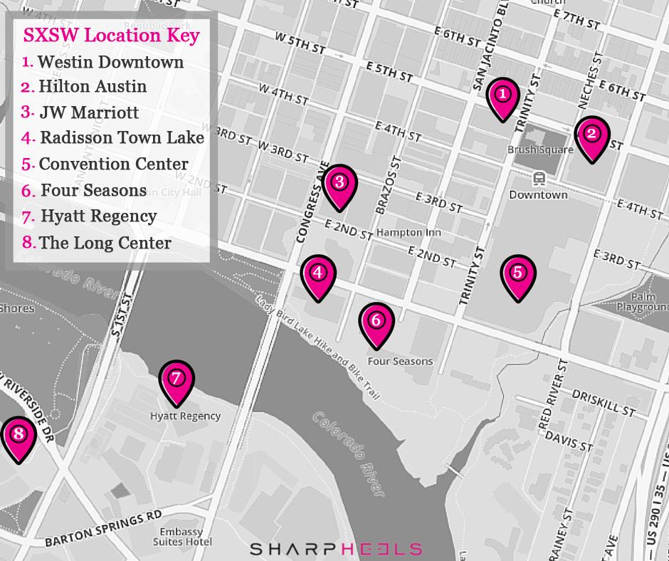 SXSW Women's Events   SharpHeels on live map, linkedin map, business map, culture map, marketing map, communication map, research map, love map, fashion map, networking map, food map, inspiration map, maker faire map, london map, fun map, tv map, coachella map, itunes map, sasquatch map, interactive map,