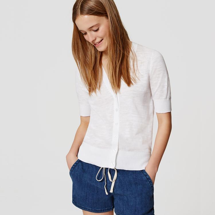 LOFT Short-Sleeve Cardigan | SharpHeels