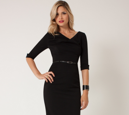 652d62e8156 Jackie O Dress – Black – SharpHeels